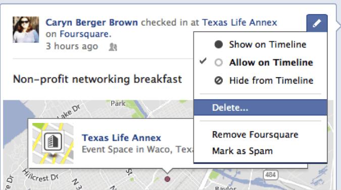 Deleting A Facebook Post