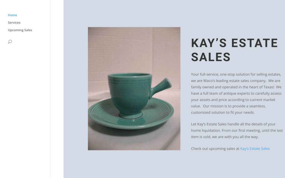 Kay's Estate Sales Website