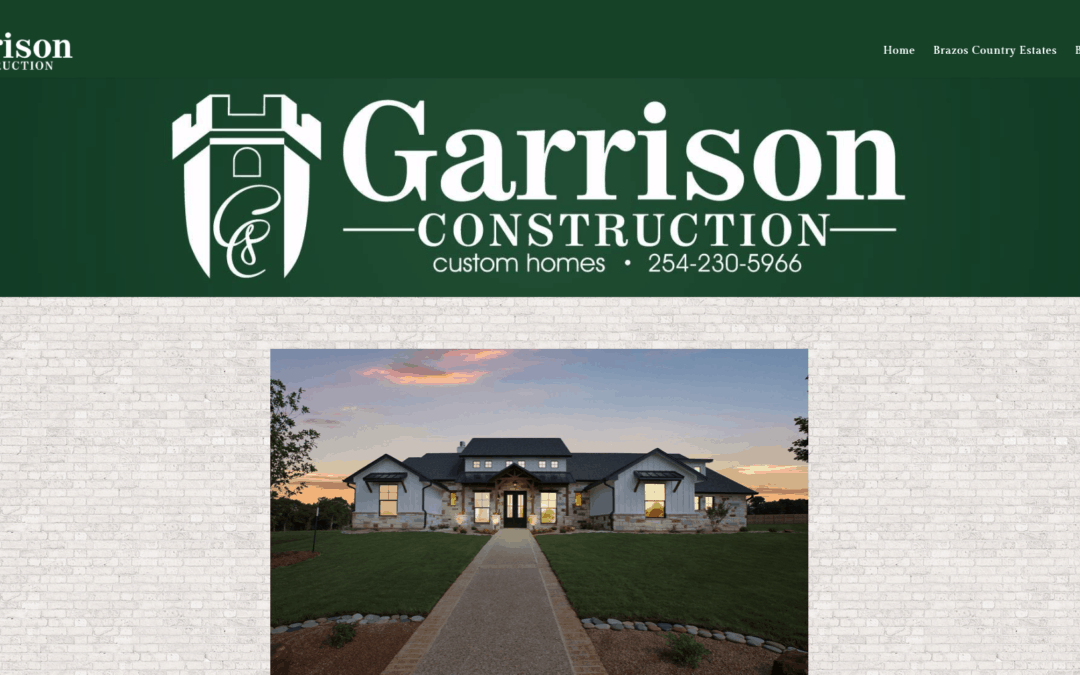 Garrison Construction Website Wednesday