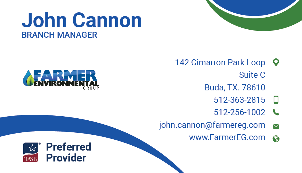 Farmer Environmental Group Business Cards