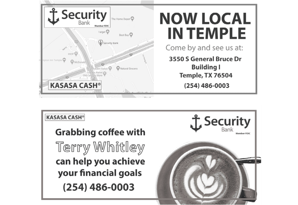 Security Bank Temple Daily Telegram Ads