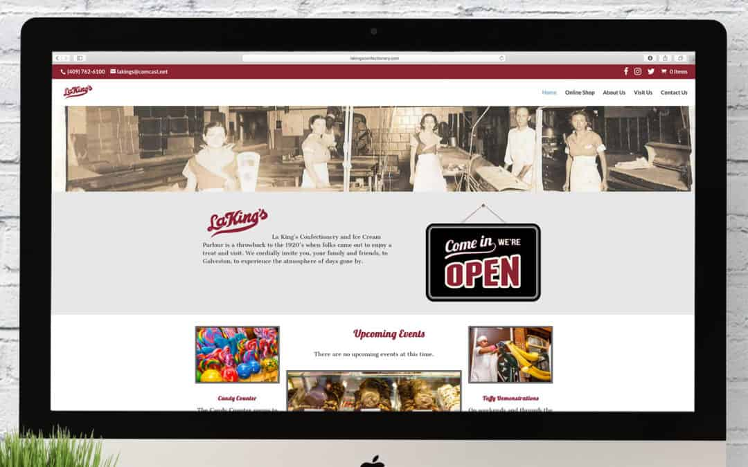 La King's Confectionery Website Wednesday