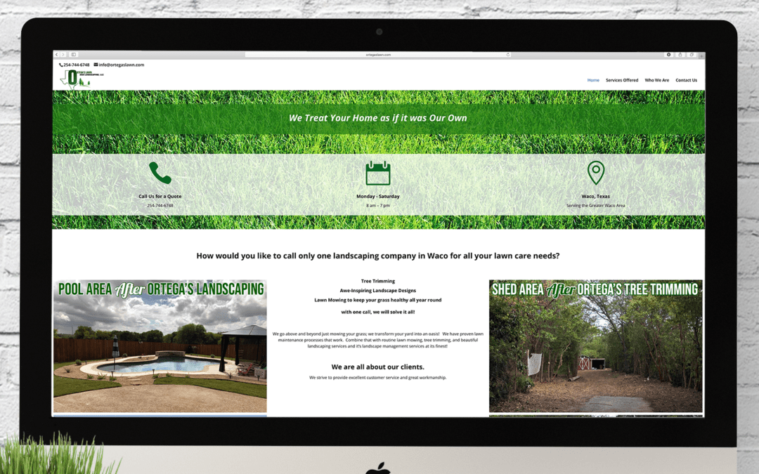 Ortega's Lawn and Landscaping Website Wednesday