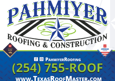 Pahmiyer Roofing Yard Sign