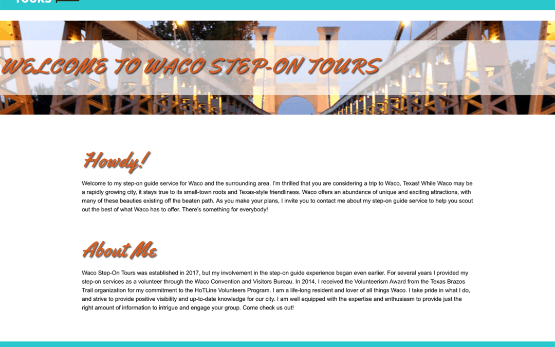Waco Step-On Tours Website Update