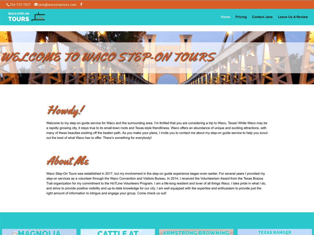 Waco-Step-On-Tours