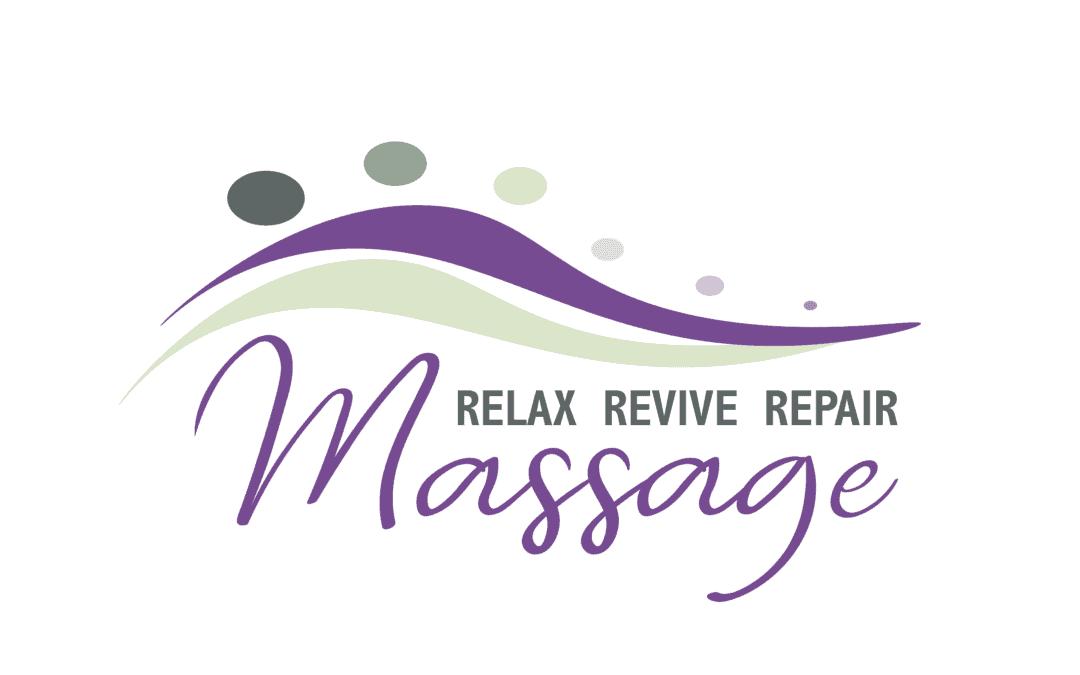 Relax Revive Repair Massage Logo