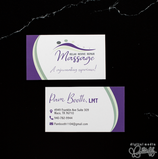 Relax Revive Repair Massage Business Cards