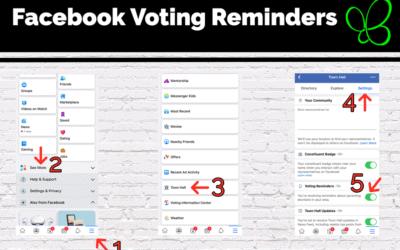 Facebook Voting Reminders