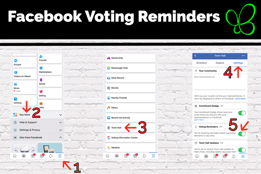 Facebook Voting Reminders