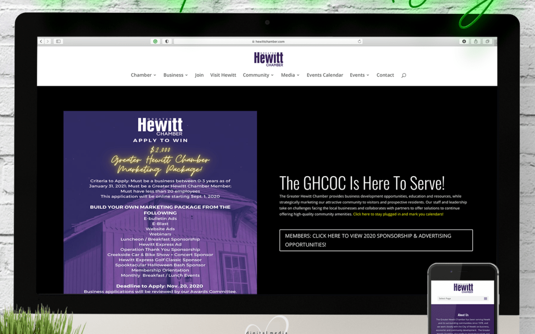 Hewitt Chamber of Commerce Website Wednesday