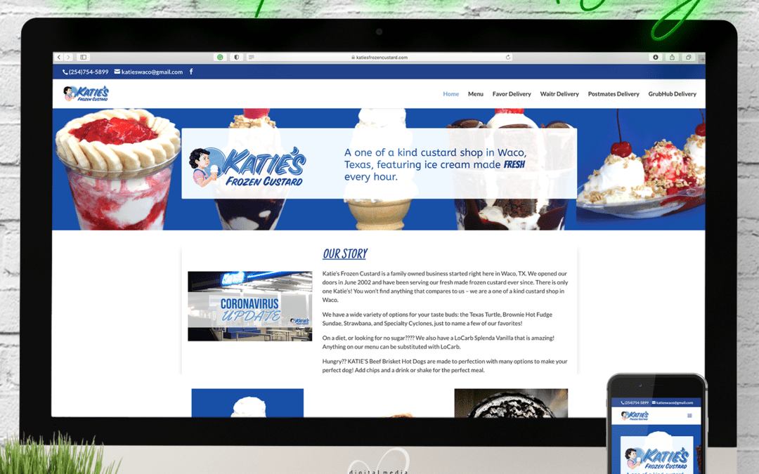 Katie's Frozen Custard Website Wednesday