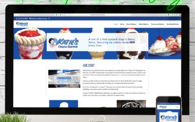 Katie's Frozen Custard Website Wednesday