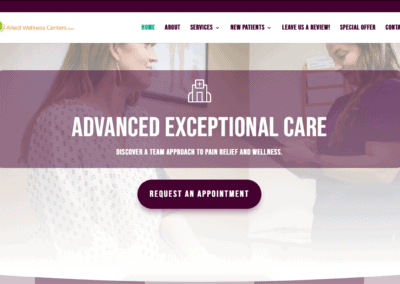 Allied Wellness Center Website