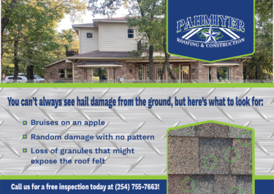 Hail Damage Postcard for Pahmiyer Roofing