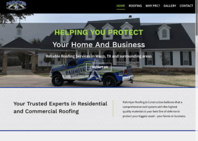 Website for Pahmiyer Roofing